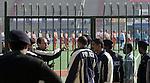 Champins Trophy Hockey mannen. Zware bewaking door politie en militairen bij de hockeywedstrijden.