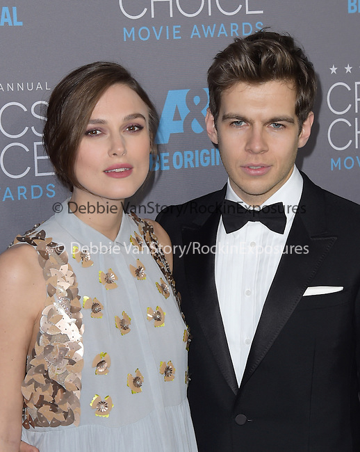 Keira Knightley and James Righton<br />  attends The 20th ANNUAL CRITICS' CHOICE AWARDS held at The Hollywood Palladium Theater  in Hollywood, California on January 15,2015                                                                               © 2015 Hollywood Press Agency