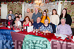 Flor Mahoney (seated front centre) from Mitchels Road celebrating his 70th birthday in Cassidys on Sunday night.
