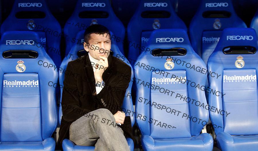 Fudbal, Santjago Bernabeu trofej.Real Madrid Vs. Partizan.head coach Miroslav Djukic.Madrid, 12.05.2007..foto: Srdjan Stevanovic