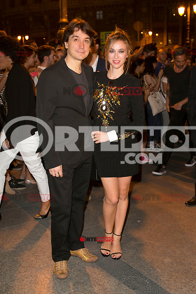 Javier Veiga and Marta Hazas attends the party of Nike and Roberto Tisci at the Casino in Madrid, Spain. September 15, 2014. (ALTERPHOTOS/Carlos Dafonte) /NortePhoto.com