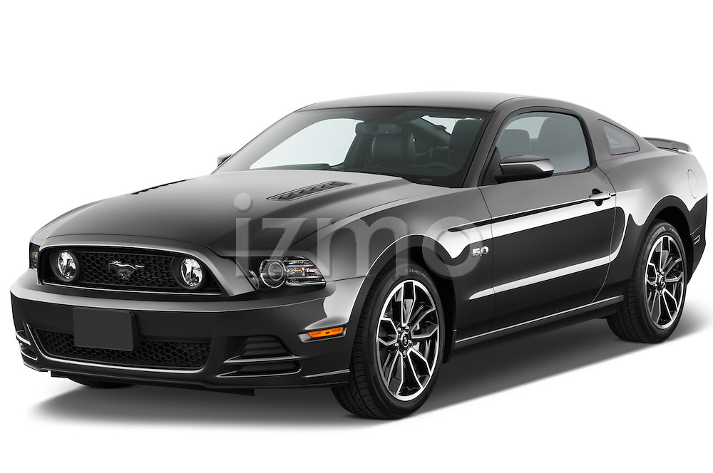 Front three quarter view of a 2013 Ford Mustanggtpremiumcoupe5a.