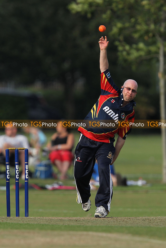Adam Jackson in action for Essex - Upminster CC vs Essex CCC - Graham Napier Benefit Match Cricket at Upminster Park - 09/09/12 - MANDATORY CREDIT: Gavin Ellis/TGSPHOTO - Self billing applies where appropriate - 0845 094 6026 - contact@tgsphoto.co.uk - NO UNPAID USE.