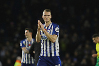 Dan Burn of Brighton & Hove Albion applauds the fans at the end of the match during Brighton & Hove Albion vs Norwich City, Premier League Football at the American Express Community Stadium on 2nd November 2019