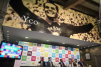 SAO PAULO, SP, 11 DE JUNHO 2013 - PELE - Coletiva de lancamento do projeto brasil um pais um mundo chancelado pelo plano de promoção do Brasil na Copa de 2014 no Estadio do Morumbi regiao sul da cidade de São Paulo na manha desta terça-feira, 11. FOTO: WILLIAM VOLCOV - BRAZIL PHOTO PRESS.