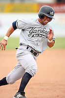 July 9th 2007:  D.J. Hollingsworth of the Staten Island Yankees, Class-A affiliate of the New York Yankees, at Dwyer Stadium in Batavia, NY.  Photo by:  Mike Janes/Four Seam Images