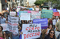 SAO PAULO, SP, 25 DE MAIO DE 2013 - MARCHA DAS VADIAS - Passeata contra o machismo chamada Marcha das Vadias, que partiu da Praça do Ciclista na Avenida Paulista e desceu a Rua Augusta em direção ao centro, na tarde deste sábado, 25, região central da capital. (FOTO: ALEXANDRE MOREIRA / BRAZIL PHOTO PRESS)
