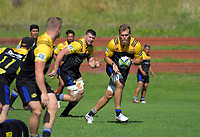 Brad Shields. Hurricanes rugby union training at Rugby League Park in Wellington, New Zealand on Wednesday, 24 January 2018. Photo: Dave Lintott / lintottphoto.co.nz