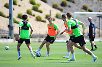 George Byers of Swansea City in action during the Swansea City Training at The Fairwood Training Ground in Swansea, Wales, UK. Thursday 25th Junes 2020