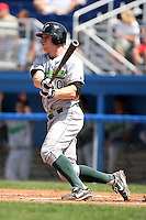 September 1 2008:  Third baseman Paul Gran of the Jamestown Jammers, Class-A affiliate of the Florida Marlins, during a game at Dwyer Stadium in Batavia, NY.  Photo by:  Mike Janes/Four Seam Images