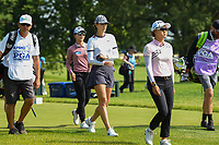 Michelle Wie (USA) puts ice on her wrist as she heads down 12 during the round 1 of the KPMG Women's PGA Championship, Hazeltine National, Chaska, Minnesota, USA. 6/20/2019.<br /> Picture: Golffile | Ken Murray<br /> <br /> <br /> All photo usage must carry mandatory copyright credit (© Golffile | Ken Murray)