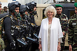 The Prince of Wales, and The Duchess of Cornwall begin a three day official visit to Morocco..Visit to The 1st Brigade Infanterie Parachutiste in Rabat