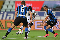 Gervinho of Parma scores the goal of 1-0 during the Serie A football match between Parma and FC Internazionale at stadio Ennio Tardini in Parma ( Italy ), June 28th, 2020. Play resumes behind closed doors following the outbreak of the coronavirus disease. <br /> Photo Andrea Staccioli / Insidefoto