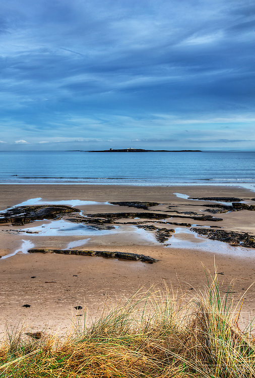 Seahouses Beach towards Farne Islands
