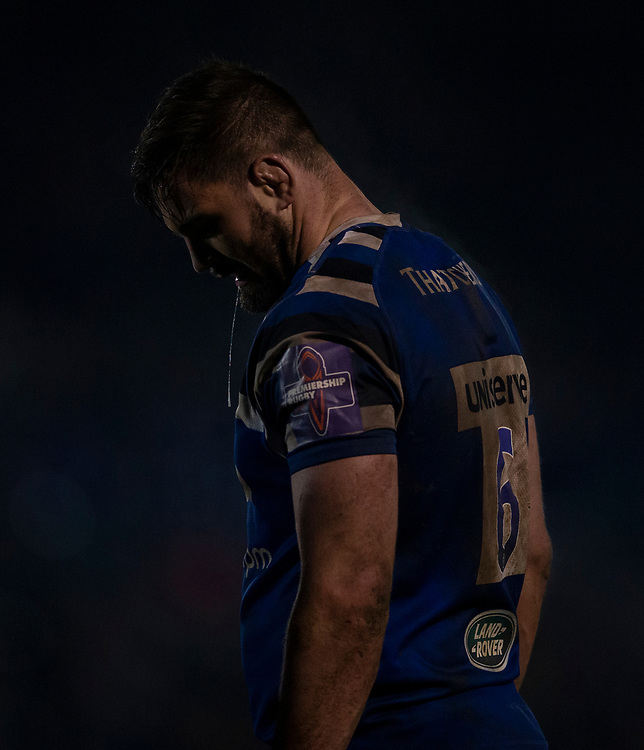 Bath Rugby's Elliott Stooke <br /> <br /> Photographer Bob Bradford/CameraSport<br /> <br /> Gallagher Premiership - Bath Rugby v Gloucester Rugby - Monday 4th February 2019 - The Recreation Ground - Bath<br /> <br /> World Copyright &copy; 2019 CameraSport. All rights reserved. 43 Linden Ave. Countesthorpe. Leicester. England. LE8 5PG - Tel: +44 (0) 116 277 4147 - admin@camerasport.com - www.camerasport.com
