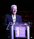 Tony Sheldon on stage at the 73rd Annual Theatre World Awards at The Imperial Theatre on June 5, 2017 in New York City.