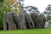 France, Domaine de Chaumont-sur-Loire, dans le parc, oeuvre de Patrick Dougherty