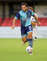Sam Wood of Wycombe Wanderers during the Friendly match between Aldershot Town and Wycombe Wanderers at the EBB Stadium, Aldershot, England on 26 July 2016. Photo by Alan  Stanford.