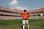 09 August 2009: An announced crowd of 72,368 watched the game. Real Madrid of Spain's La Liga defeated DC United of Major League Soccer 3-0 at FedEx Field in Landover, Maryland in an international club friendly soccer match.