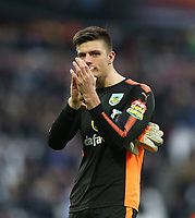 Burnley's Nick Pope<br /> <br /> Photographer Rob Newell/CameraSport<br /> <br /> The Premier League - West Ham United v Burnley - Saturday 10th March 2018 - London Stadium - London<br /> <br /> World Copyright &not;&copy; 2018 CameraSport. All rights reserved. 43 Linden Ave. Countesthorpe. Leicester. England. LE8 5PG - Tel: +44 (0) 116 277 4147 - admin@camerasport.com - www.camerasport.com