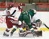 Gina McDonald (Harvard - 10), Camille Dumais (Dartmouth - 7) - The visiting Dartmouth College Big Green defeated the Harvard University Crimson 3-2 on Wednesday, November 23, 2011, at Bright Hockey Center in Cambridge, Massachusetts.
