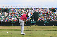 Tommy Fleetwood (ENG) tees off the par3 9th tee during Saturday's Round 3 of the 117th U.S. Open Championship 2017 held at Erin Hills, Erin, Wisconsin, USA. 17th June 2017.<br /> Picture: Eoin Clarke | Golffile<br /> <br /> <br /> All photos usage must carry mandatory copyright credit (&copy; Golffile | Eoin Clarke)