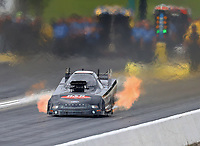 May 20, 2017; Topeka, KS, USA; NHRA funny car driver Brian Stewart during qualifying for the Heartland Nationals at Heartland Park Topeka. Mandatory Credit: Mark J. Rebilas-USA TODAY Sports