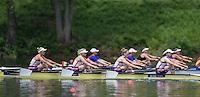 Lucerne, SWITZERLAND<br /> <br /> GBR W4X, Bow. Kristina STILLER, Jessica LEYDEN, Holly NIXON and Rosamund BRADBURY, 2016 European Olympic Qualifying Regatta, Lake Rotsee.<br /> <br /> Sunday  22/05/2016<br /> <br /> [Mandatory Credit; Peter SPURRIER/Intersport-images]