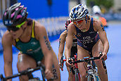 June 11th 2017, Leeds, Yorkshire, England; ITU World Triathlon Leeds 2017; Renee Tomlin chases down Tamsyn Moana-Veale