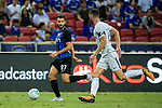FC Internazionale Midfielder Antonio Candreva (R) in action during the International Champions Cup 2017 match between FC Internazionale and Chelsea FC on July 29, 2017 in Singapore. Photo by Weixiang Lim / Power Sport Images