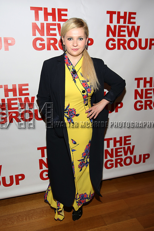 """Abigail Breslin attends the Opening Night of The New Group World Premiere of """"All The Fine Boys"""" at the The Green Fig Urban Eatery on March 1, 2017 in New York City."""