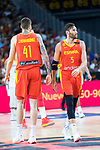 J Hernan Gomez and Rudy Fernandez (r) during Spain vs Dominican Republic friendly match in Madrid. August 22, 2019. (ALTERPHOTOS/Francis González)