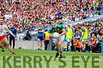 Stephen O'Brien, Kerry in action against Niall Sludden, Tyrone during the All Ireland Senior Football Semi Final between Kerry and Tyrone at Croke Park, Dublin on Sunday.