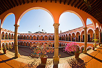The interior courtyard of the  Municipal Palace (Palacio Municipal), El Fuerte, Mexico