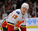 OLLI JOKINEN,  of the Calgary Flames in action  during the Flames  game against the Chicago Blackhawks at the United Center in Chicago, IL.  The Chicago Blackhawks beat the Calgary Flames 4-2 in Chicago, Illinois on December 5, 2011....