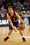 Turkish Airlines Euroleague 2018/2019. <br /> Regular Season-Round 30.<br /> FC Barcelona Lassa vs Khimki Moscow Region: 83-74. <br /> Kevin Pangos.