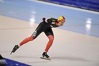 SCHAATSEN: HEERENVEEN: IJsstadion Thialf, 11-01-2013, Seizoen 2012-2013, Essent ISU EK allround, 5000m Men, Ferre Spruyt (BEL), ©foto Martin de Jong