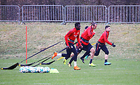 Danny da Costa (Eintracht Frankfurt), Alexander Meier (Eintracht Frankfurt), Marijan Cavar (Eintracht Frankfurt) - 04.04.2018: Eintracht Frankfurt Training, Commerzbank Arena