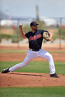 AZL Indians Blue relief pitcher Eric Mock (52) during an Arizona League game against the AZL Indians Red on July 7, 2019 at the Cleveland Indians Spring Training Complex in Goodyear, Arizona. The AZL Indians Blue defeated the AZL Indians Red 5-4. (Zachary Lucy/Four Seam Images)