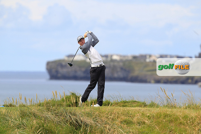 Stuart Grehan (Tullamore) on the 12th tee during Matchplay Round 1 of the South of Ireland Amateur Open Championship at LaHinch Golf Club on Friday 24th July 2015.<br /> Picture:  Golffile | Thos Caffrey