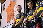 Thomas Voeckler (FRA) Direct Energie team on stage at the Team Presentation in Burgplatz Dusseldorf before the 104th edition of the Tour de France 2017, Dusseldorf, Germany. 29th June 2017.<br /> Picture: Eoin Clarke | Cyclefile<br /> <br /> <br /> All photos usage must carry mandatory copyright credit (&copy; Cyclefile | Eoin Clarke)