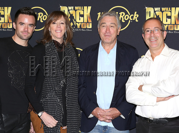 Brian Justin Crum, Jane Rosenthal, Robert De Niro with Director Ben Elton attend the 'We Will Rock You' North America Tour Rehearsals at The New 42nd Street Studios on September 23, 2013 in New York City.
