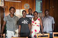 N. Uganda, Gulu District. Gwendiya village. Peter C. Alderman Foundation project. Local staff.