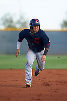 Cleveland Indians Ka'ai Tom (20) during an instructional league game against the Cincinnati Reds on October 17, 2015 at the Goodyear Ballpark Complex in Goodyear, Arizona.  (Mike Janes/Four Seam Images)