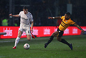 5th February 2019, Rodney Parade, Newport, Wales; FA Cup football, 4th round replay, Newport County versus Middlesbrough; Paddy McNair of Middlesbrough moves down the wing as Joss Labadie of Newport County closes in