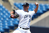 Lake County Captains starting pitcher Mike Rayl #27 delivers a pitch during the first game of a double header against the West Michigan Whitecaps at Classic Park on May 30, 2011 in Eastlake, Ohio.  West Michigan defeated Lake County 5-0.  Photo By Mike Janes/Four Seam Images