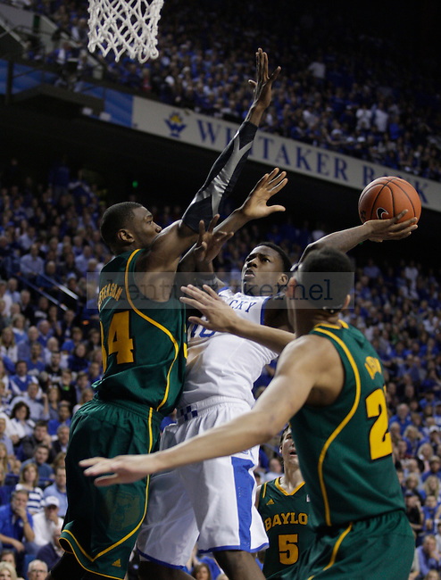 Freshman guard Archie Goodwin under pressure by several Baylor players during the second half of the game between the University of Kentucky and Baylor University, on Saturday, Dec. 1, 2012 at Rupp Arena, in Lexington, Ky. Baylor won 64-55. Photo by Latara Appleby | Staff