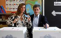 20130609 ROMA-POLITICA: GIANNI ALEMANNO VOTA PER IL BALLOTTAGGIO