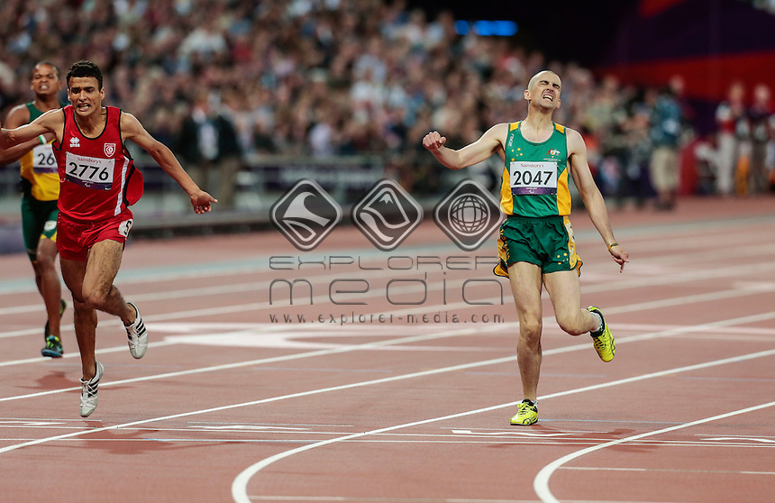 Tim Sullivan AUS Men's 400m-T38 Final, Athletics (Monday 3rd Sept) - Olympic Stadium, Paralympics - Summer / London 2012, London, England 29 Aug - 9 Sept , © Sport the library/Greg Smith
