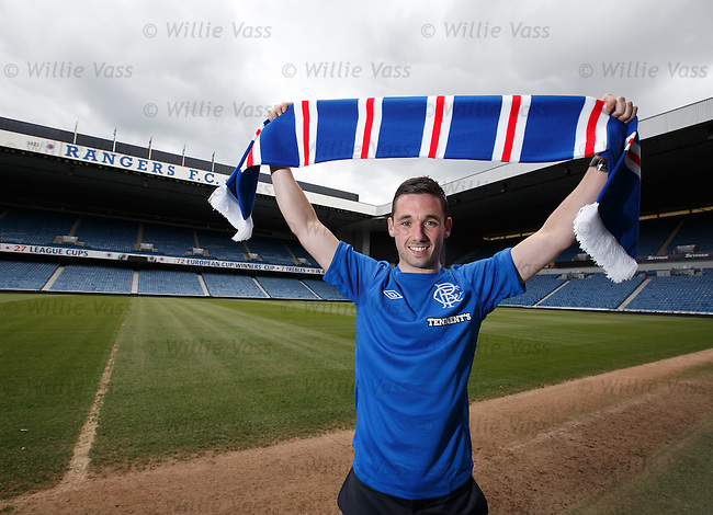 Nicky Clark at Ibrox after signing a three year deal with Rangers